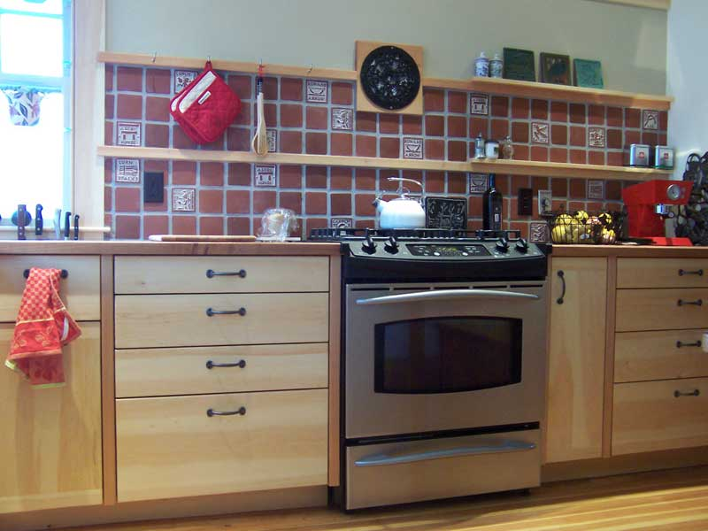pine cabinets with cherry posts  accessible kitchen cabinets and affordable ecological kitchens in      rh   samclarkdesign com